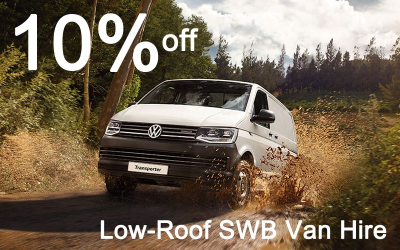 Get 10% off Low-Roof SWB Van Hire this July - click for full details.