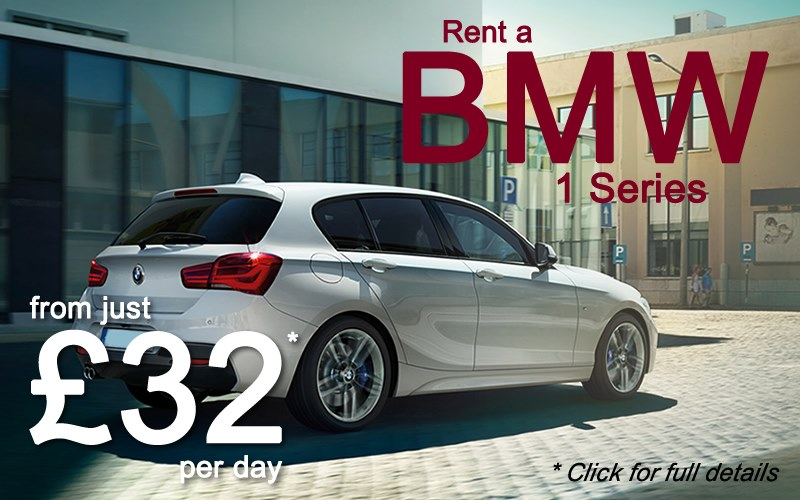 Hire a BMW 116 Manual car from as little as £32 a day - click for full details.