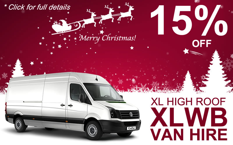 Get 15% off High-Roof XLWB Van Hire - click for full details.