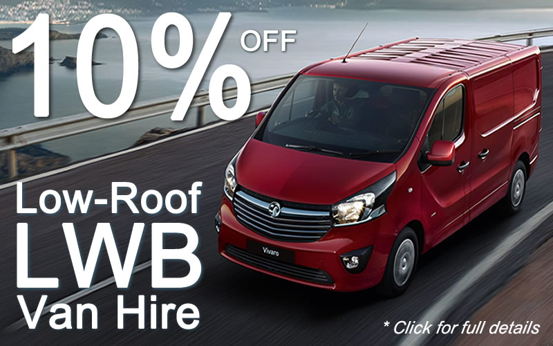 Get 10% off Low-Roof LWB Van Hire - click for full details.
