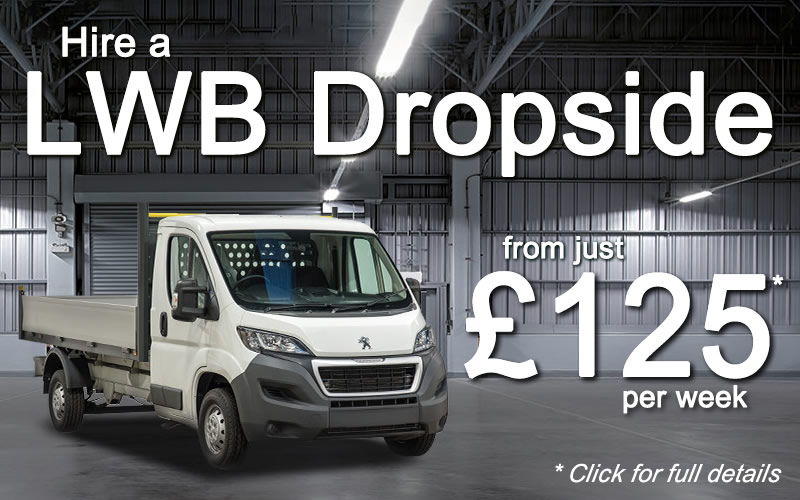 Hire a LWB Dropside from Limesquare for just £125 per week - click for full details and terms and conditions.